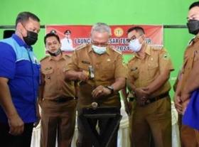 Diskopdagperin Kuningan Launching Pasar Tertib Ukur
